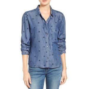 Rails Dana Chambray Shirt in Star Print - L